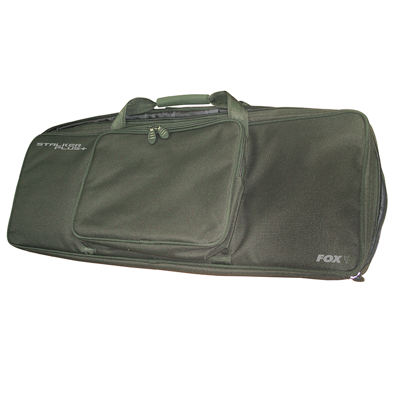 Fox NEW Stalker Plus Fishing Pod Carry Case *Includes 2 /& 3 Rod Buzz Bars*