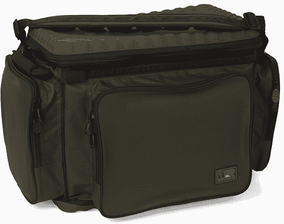 New Hardwearing and water resistant 400 denier treated polyester fabric Heavy duty double 10mm zips ensure complete reliability Moulded base and lid Perfect for storing multitude of tackle items 2 x external side pockets for storing tackle essentials 1 x external central pocket for tackle box storage Stiffened EVA grab handles Removable, padded shoulder strap Main outer fabric 100% Polyester, Padding/Filling 100% Polyethylene, Lining 100% Polyester, base 100% Ethylene Vinyl Acetate Copo (EVA)